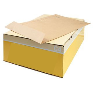 Envelopes Kraft C4 (229X324mm) c/tira de silicone - Pack 250 unidades   - ONBIT