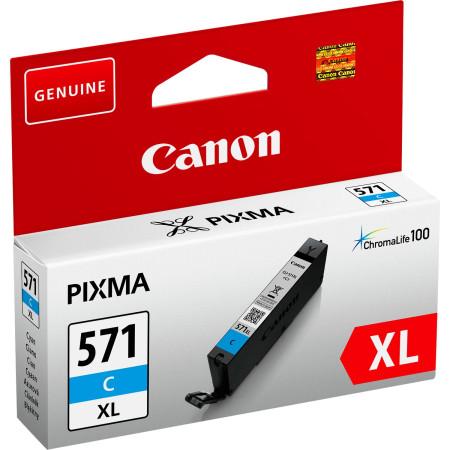 Tinteiro Canon CLI-571 C XL Azul Original (0332C001)