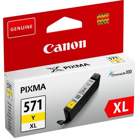 Tinteiro Canon CLI-571 Y XL Amarelo Original (0334C001)