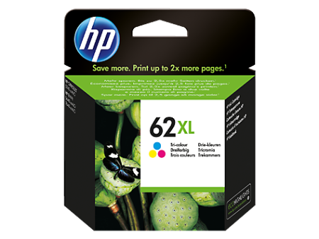 Tinteiro HP 62 XL Tricolor Original (C2P07AE)