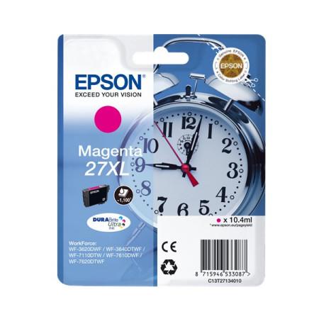 Tinteiro Epson 27 XL Magenta Original Série Despertador (C13T27134012)
