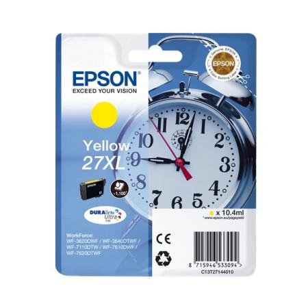 Tinteiro Epson 27 XL Amarelo Original Série Despertador (C13T27144012)