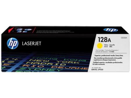 Toner HP LaserJet Original 128A  Amarelo CE322A