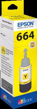 Recarga de Tinta 664 Original Epson T6644 Amarelo (C13T664440)