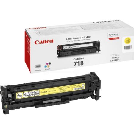 Toner Canon Original 718 Amarelo (2659B002)