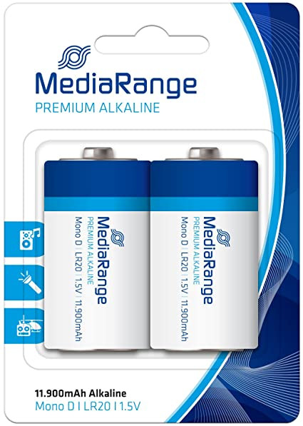 Pilhas MediaRange Premium Alkaline Mono D   LR20   1.5V - Pack 2