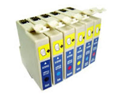 Conjunto de 6 Tinteiros Compatíveis Epson T0481/2/3/4/5/6   - ONBIT