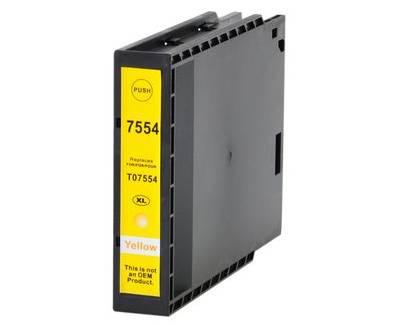 Tinteiro Epson Compatível T7554 / T7564 - Amarelo