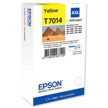 Tinteiro Epson T7014 Amarelo Original (C13T70144010)