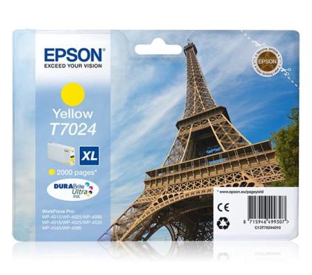 Tinteiro Epson T7024 XL Amarelo Original (C13T70244010)
