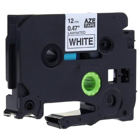 Fita Laminada Compatível Brother TZE-251 - 24mm x 8 metros Preto/Branco