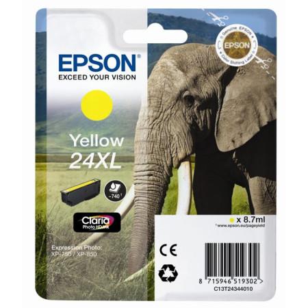 Tinteiro Epson 24 XL Amarelo Original Série Elefante (C13T24344010)