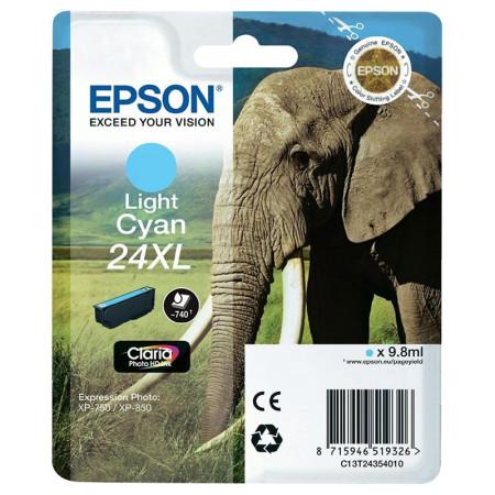 Tinteiro Epson 24 XL Azul Claro Original Série Elefante (C13T24354010)