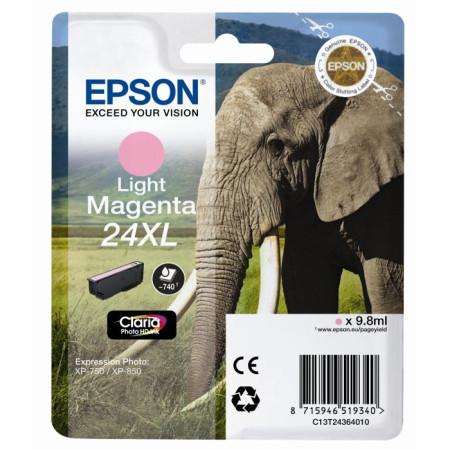 Tinteiro Epson 24 XL Magenta Claro Original Série Elefante (C13T24364010)