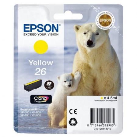 Tinteiro Epson 26 Amarelo Original Série Urso (C13T26144010)