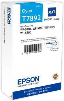 Tinteiro Epson T7892 XL Azul Original (C13T789240)