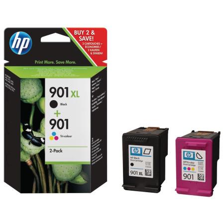 HP 901 XL Combo-pack Preto / Tri-color Original (SD519AE)