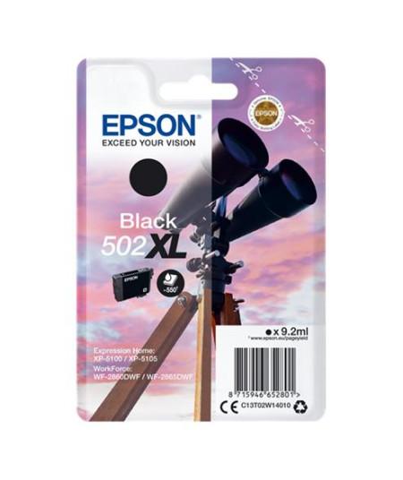 Tinteiro Epson 502XL Preto Original Série Binóculos T02W1 (C13T02W14010)