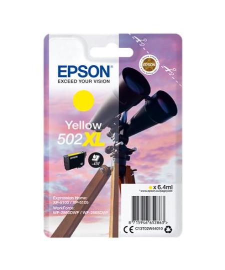 Tinteiro Epson 502XL Amarelo Original Série Binóculos T02W4 (C13T02W44010)