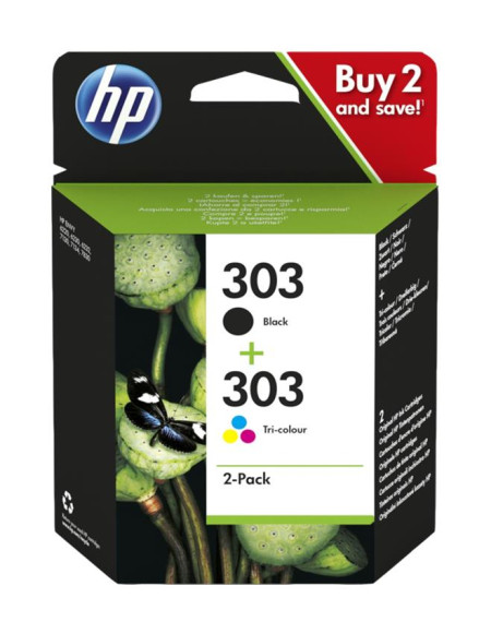 HP 303 Combo-Pack Preto / Tri-color Original 3YM92AE