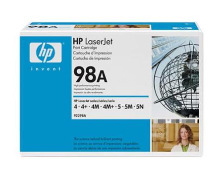 Toner HP LaserJet Original 98A Preto (92298A)