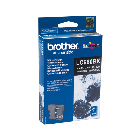 Tinteiro Brother Original LC980 Preto (LC980BK)