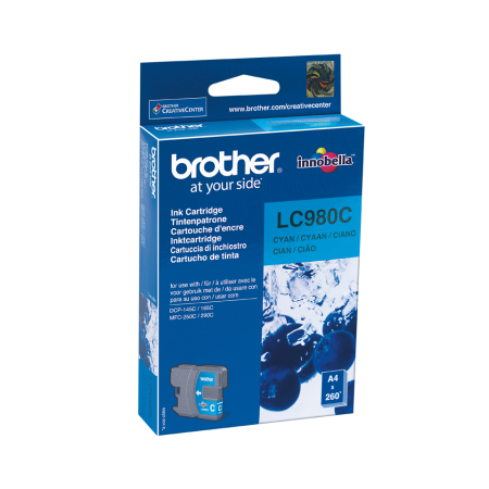 Tinteiro Brother Original LC980 Azul (LC980C)