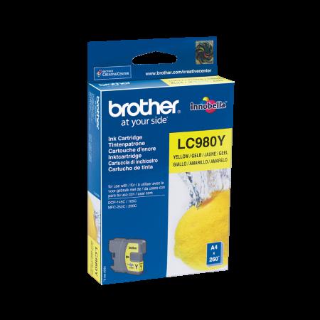 Tinteiro Brother Original LC980 Amarelo (LC980Y)