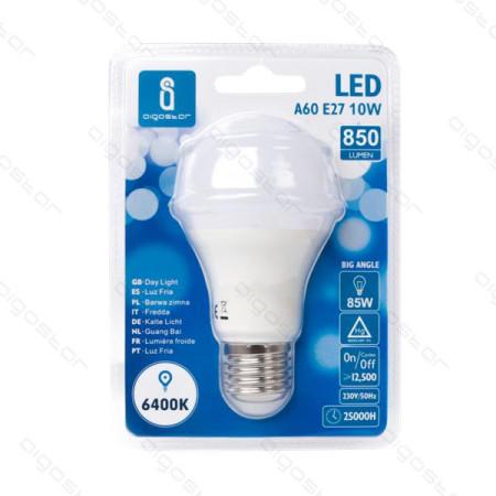 Lâmpada LED E27 10W 6400K Luz Fria A5 A60 Aigostar