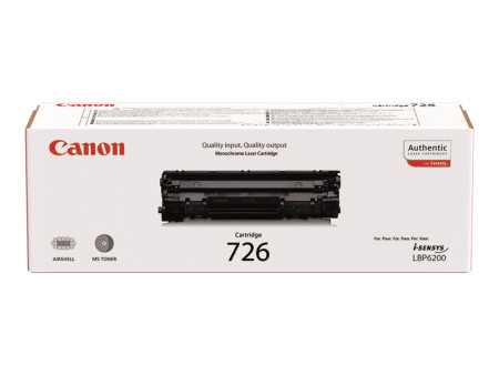 Toner Canon Original 726 Preto (3483B002)
