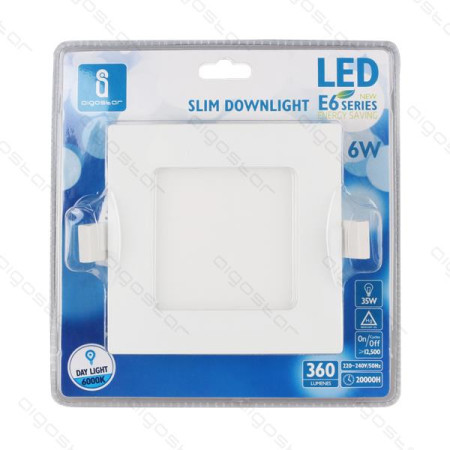 Placa Led Downlight Slim E6 12W 4000K 150-160mm Aigostar
