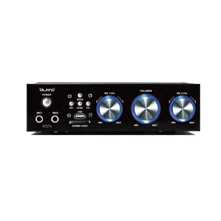 Amplificador e Karaoke 200W Bluetooth BT27s BIWOND