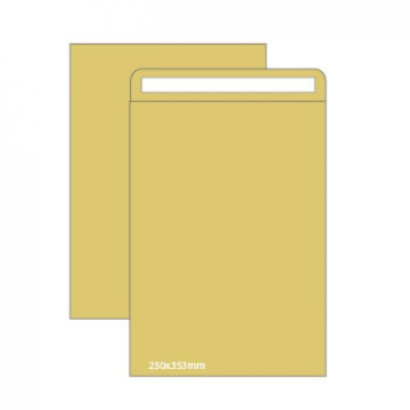 Envelopes Kraft B4 (250X353mm) c/tira de silicone - Pack 250 unidades