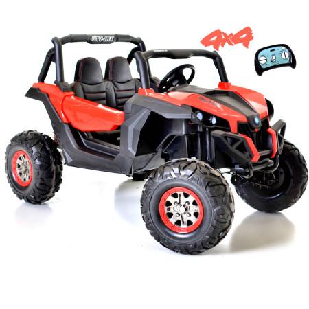 Carro Elétrico Buggy UTV-MX 4x2 100W Turbo Bateria 24v c/ Comando Vermelho