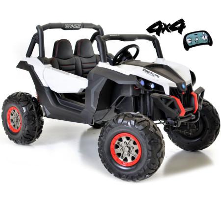 Carro Elétrico Buggy UTV-MX 4X4 Bateria 24v c/ Comando e Bluetooth Branco