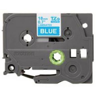 Fita Laminada Compatível Brother TZeFA3 - 12mm x 3 metros Azul/Branco