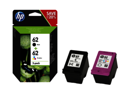 HP 62 Combo-pack Preto/Tri-color Original N9J71AE