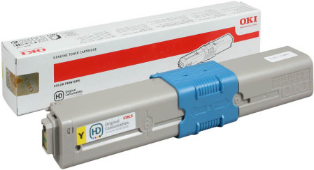 Toner Oki Original C310 / C330 / C510 / C530 Amarelo