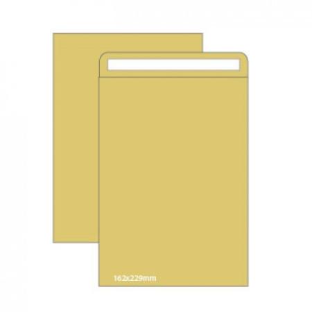 Envelopes Kraft C5 (162X229mm) c/tira de silicone - Pack 500 unidades