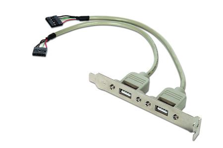 Adaptador Gembird 2x Portas USB2.0  CCUSBRECEPTACLE - ONBIT