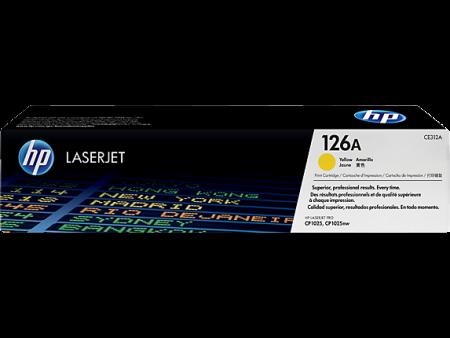 Toner HP LaserJet Original 126A Amarelo CE312A