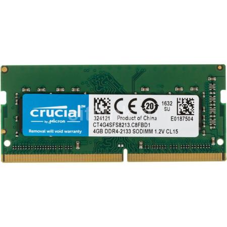 Memoria Crucial 4GB DDR4 2133MHz SODIMM CL15 1.2V