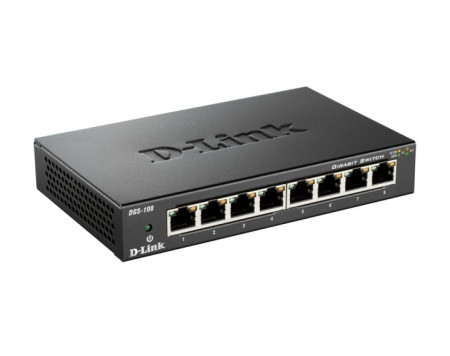 Switch D-LINK Gigabit 8 Portas DGS-108