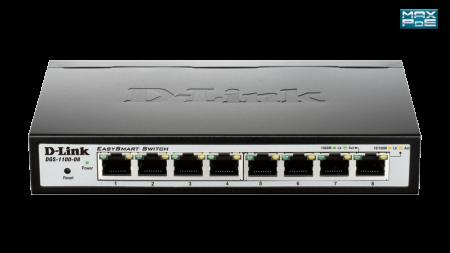 Switch D-Link EasySmart 8 Portas Gigabit DGS-1100-08
