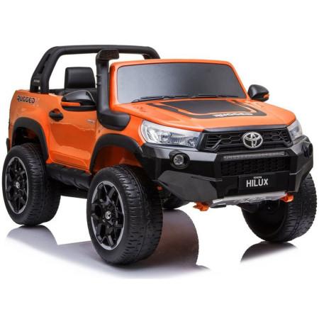Carro Elétrico Toyota Hilux 4x4 24V Bateria c/ Comando Laranja Metalizado