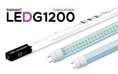 Tubo LED Integrado G1200 120CM 18W 6500K Luz Fria 1500 Lúmens Radiant LED