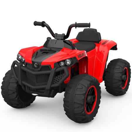 Moto 4 Elétrica ATV 4x2 Velocity Bateria 12v Vermelha