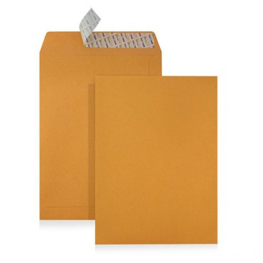 Envelopes Kraft B5 (176X250mm) c/tira de silicone - Pack 250 unidades   - ONBIT