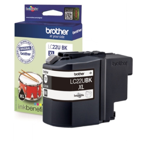 Tinteiro Brother Original LC22U BK Preto (LC22UBKBP)