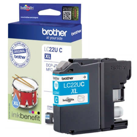 Tinteiro Brother Original LC22U C Azul (LC22UCBP)